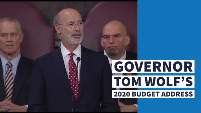 Governor Tom Wolf's 2020 Budget Address